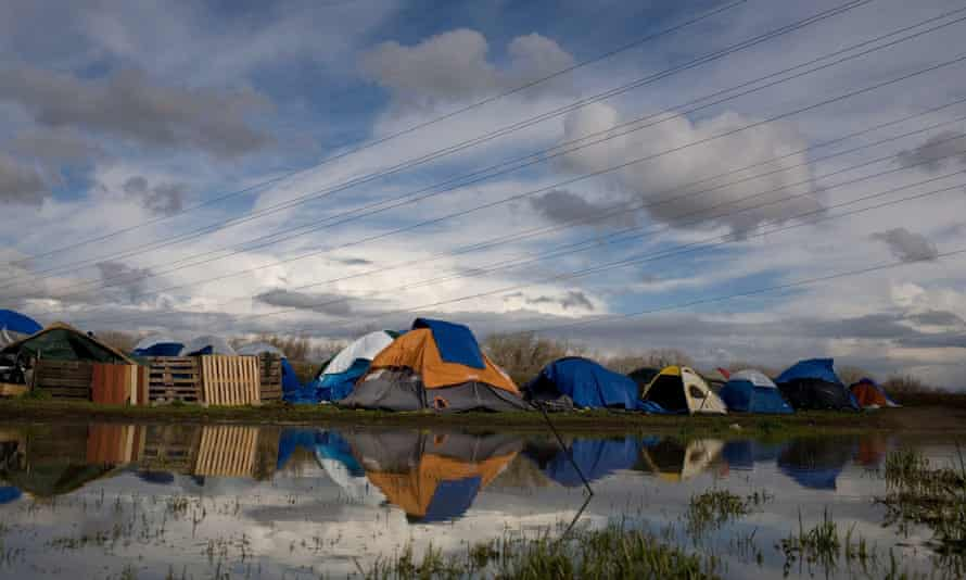 Tent cities, like this one in Sacramento, California, have sprung up as more Americans go homeless.