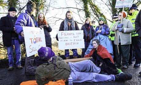 Barton Moss anti-fracking protest