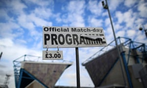 Matchday programmes on sale, but where?