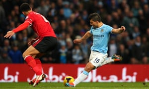 ...and Aguero scores the fourth. Their 103rd of the season.