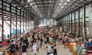 Crowds at Carriageworks Markets, Eveleigh.