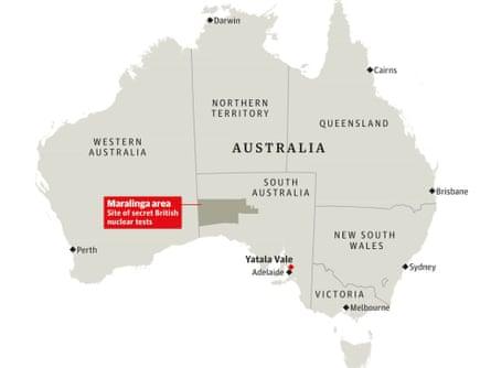Australia Maralinga Map