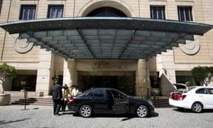 The Michelangelo Towers hotel in Johannesburg, where former colonel Patrick Karegeya was found dead