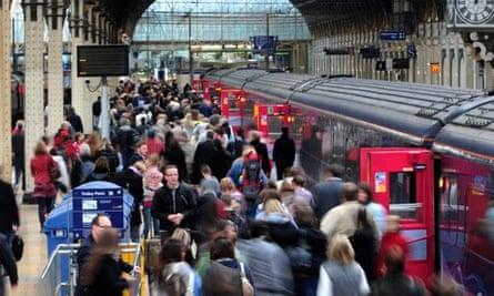 Commuters at Paddington station