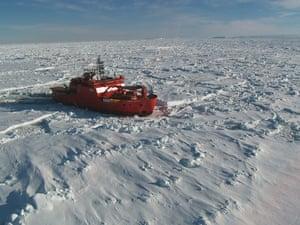 Antarctica Live: aerial view of the Aurora Australis