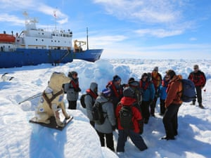 Antarctica live: passengers await helicopter rescue