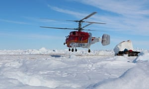 Antarctica Live: helicopter landing