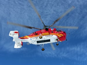 Antarctica Live: Chinese helicopter overhead