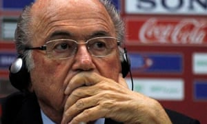 Fifa's president, Sepp Blatter, complained about diving and feigning injury