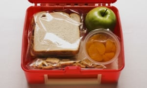 A lunch box with a sandwich and snacks --- Image by   Rubberball/Rubberball/Corbis baked good bread citrus fruit close-up view container cracker cutting drink education food fruit green apple indoors lunch lunchbox many meal nobody open orange plastic prepared food produce sandwich school serenity slice slicing snack solid still life view from above