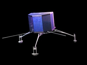 The Philae lander, part of the Rosetta comet-chasing mission