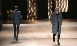 Hedi Slimane's AW14 collection for Saint Laurent menswear.