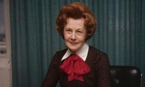 Barbara Castle in 1974 as social security secretaryover