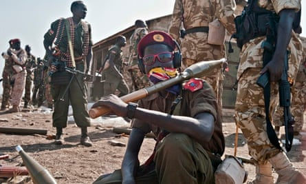 South Sudanese government soldiers