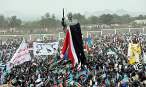Crowd celebrates independence in Juba in 2011