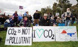 anti-carbon tax protestors Australia