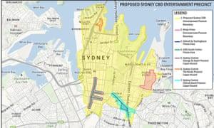 Proposed Sydney CBD entertainment precinct
