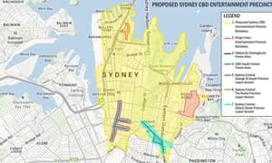 Sydney CBD entertainment precinct