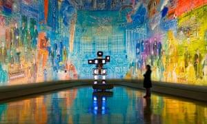 Raoul Duffy's room, La Fee Electricite, in the Musee d'Art Moderne de la Ville de Paris
