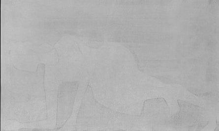 Silke Otto-Knapp's Figure (horizontal, grey), 2011