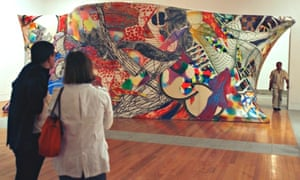 People visit one of the rooms in the Berardo Museum of Modern and Contemporary Art in Lisbon