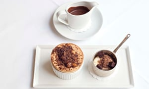 Roux at Parliament Square: chocolate souffle