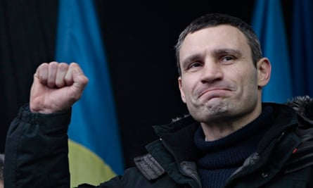 Klitschko in Kiev … 'We need to join all our forces.'