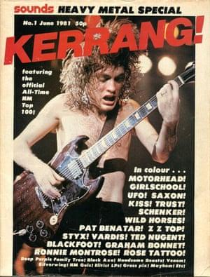 Kerrang covers: Kerrang 1st issue