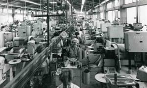Workers at Lucas Industries, Shaftmoor Lane branch, Birmingham, 1970.
