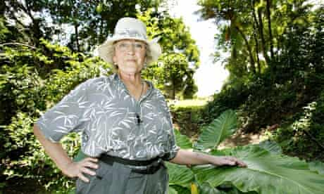 Germaine Greer at home in the rainforest