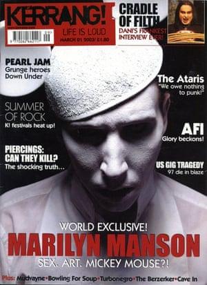 Kerrang covers: Kerrang Marilyn Manson