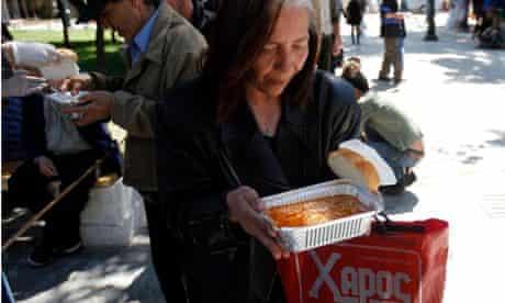 Greek austerity soup kitchen