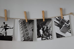 Homes - Petra Tyler: postcards hanging up on line with clothes-pegs