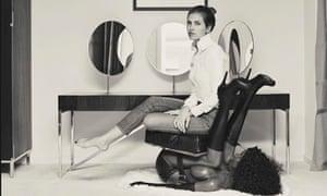 Dasha Zhukova in Bjarne Melgaard's chair