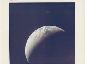 Earth seen from 10,000 miles away,  Apollo 4, November 1967