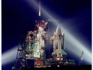 The Space Shuttle STS-1 at Kennedy Space Center, March 1981.