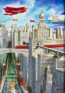 City of the Future by Anton Brzezinski, drawn in 1951.
