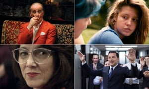Film composite: The Great Beauty, Blue / Warmest, Wolf of Wall St, Gloria