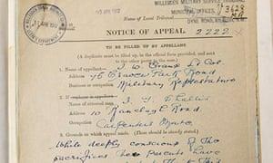 Military tribunal document for John Shallis, first world war