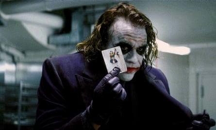 Heath Ledger as Joker in The Dark Knight.