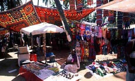 A street market in Goa