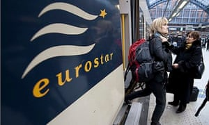 Eurostar train at London's St Pancras station