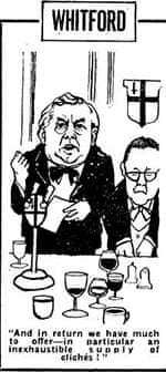 Newspaper cartoon by Frank Whitford