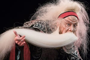 King Lear: Wu Hsing-kuo plays Lear in the Chinese Peking Opera's production at the Edi
