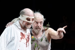 King Lear: John Shrapnel (right) as Lear and Trevor Cooper as Gloucester in the 2012 p