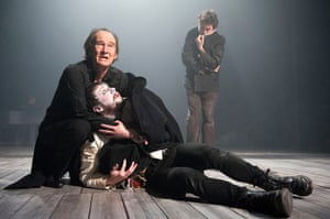 King Lear: David Hayman as Lear and Owen Whitelaw as the Fool in the Citizens theatre