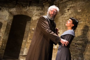 King Lear: Jonathan Pryce as Lear and Phoebe Fox as Cordelia in Michael Attenborough's