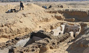 The recently unearthed tomb of King Senebkay near Abydos.
