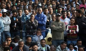 African asylum seekers protest in Israel