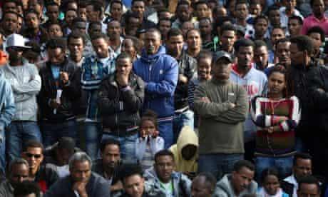 African asylum seekers protest in Israel